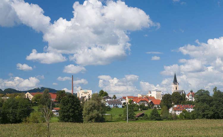 Blick vom Bierwanderweg nach Teisendorf