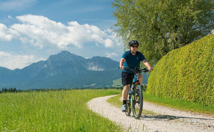 E Bike Teisendorf Hochstaufen Arnolding Feldweg