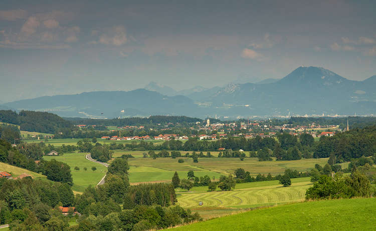 Landschaft Teisendorf Surtal Oberteisendorf
