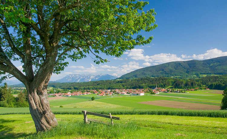 Aussicht auf Oberteisendorf
