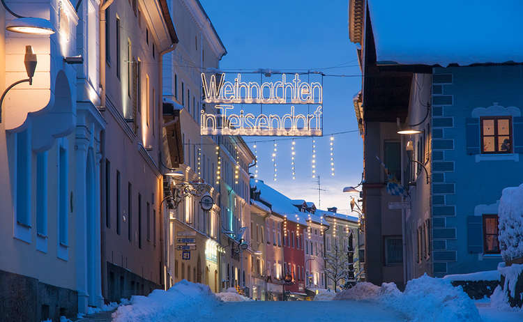 Schnee Weihanchten Teisendorf
