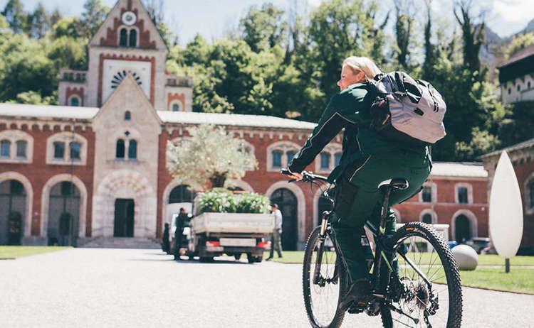 Sommer Alpenstadt Reichenhall Radfahren Saline